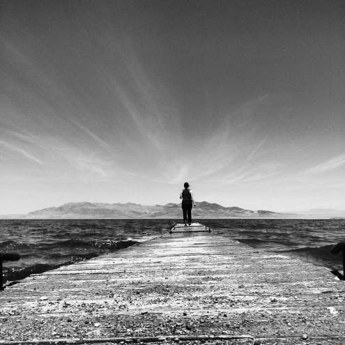 Michelle Myers_Pyramid Lake, NV B&W_Photo Credit Elizabeth Parawan